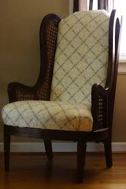 items similar to vintage lewittes high back wingback chair with
