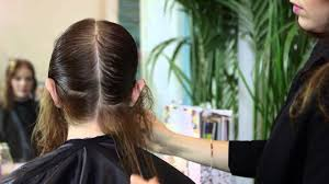 bob haircuts for damaged hair triangle haircuts for thin hair styling thin damaged hair youtube