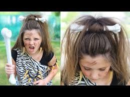 cave woman half up halloween hairstyles cute girls hairstyles