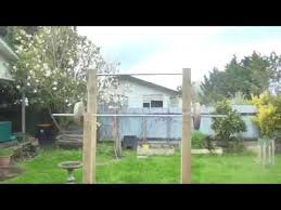 Diy Backyard Pull Up Bar by Diy Homemade Pull Up Bar And Squat Rack Youtube