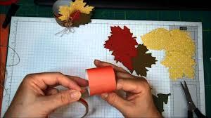 thanksgiving napkin rings craft stampin u0027 up autumn accents thanksgiving napkin rings youtube