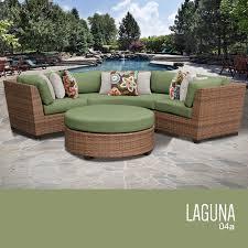 4 Piece Wicker Patio Furniture Tk Classics Laguna 4 Piece Outdoor Wicker Patio Furniture Set 04a
