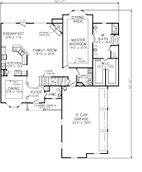 Floor Plan For Master Bedroom Suite 8 House Plan 2224 Kingstree Floor Plan Plans With Master Suite