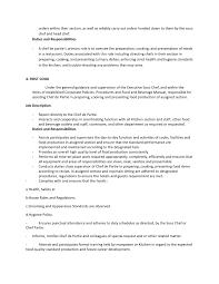 Job Description Of A Line Cook For Resume by Faisa L Making Job Description Hrm Kelompok 10