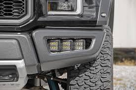 ford raptor fog light kit 2017 ford triple 2in led fog light kit w hidden bumper mounts for 2017