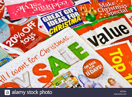 junk mail catalogues advertising gifts and sales stock