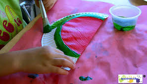 how to make a fun summer craft for kids a watermelon cardholder