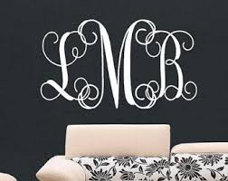 Monogram Wall Decals For Nursery Items Similar To Personalized Monogram Initial Vinyl Wall Decal