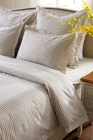 Cherry Duvet Cover 6pc Taupe White Striped Bedding Set Includes Comforter And Duvet