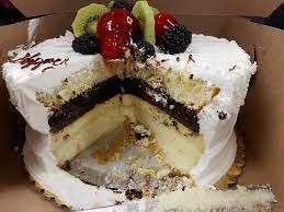 4 layers of yumminess tres leches chocolate cake flan and