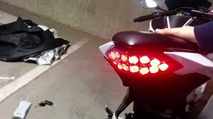 ninja 300 integrated tail light ninja 300 moto dynamic integrated taillight review youtube