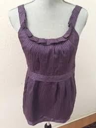 purple silk blouse marc by marc purple mini polka dot ruffle silk tank top