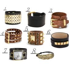 ladies leather strap bracelet images Gold diamond pendants woman cuff bracelet jpg