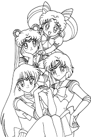 anime coloring pages to print done pinterest sailor chibi
