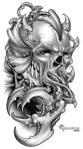 amazing alien skull tattoo design sketch skull tattoos tattoomagz