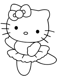 kitty ballerina coloring free printable coloring pages