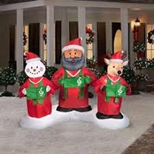 inflatable airblown snowman family lightshow 6 snowmen outdoor