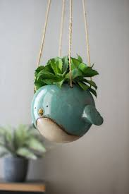 Tooth Shaped Planter by Ceramic Hanging Planter Blue Bird Products Pinterest Blue