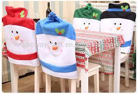 Snowman Chair Covers Santa Hat Decoration Santa Hat Decoration Suppliers And