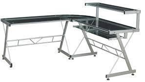 Black Glass L Shaped Desk L Shaped Glass Desk Walmart Home Design Ideas