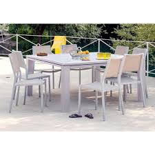 exceptionnel table carree exterieur aluminium 10 table de jardin