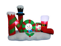 Halloween Outdoor Inflatables by Amazon Com 4 Foot Tall Lighted Christmas Inflatable Noel Yard
