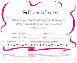 cute gift certificate template free gift certificate template