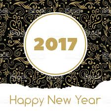 Happy New Year Decoration Vector by Happy New Year Card Vector With Gold Black Ornament Background
