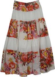 cotton skirt white flowers indian lace skirt clothing sale on bags