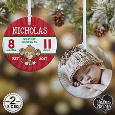 precious moments baby u0027s first christmas photo ornament christmas