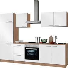 K Henzeile Komplett Küchenzeile Mit E Geräten Optifit Odense Breite 270 Cm Online