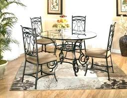 wrought iron dining table glass top glass wrought iron dining table glass top kitchen table and glass