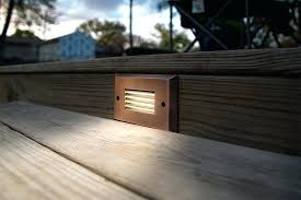solar deck accent lights solar deck step light led step lights rectangular deck step accent