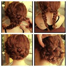 natural hairstyles braids curly braided updo on natural short hair