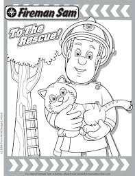 rescue friends dvd fireman sam coloring fireman sam