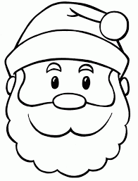 santa face coloring kids coloring