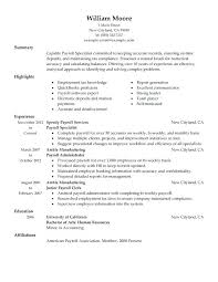 Sample Resume For 3 Years Experience In Manual Testing Software Experience Resume Sample Payroll Specialist Resume Sample