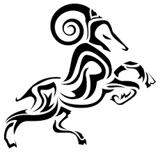 aries ram design tribal stencil just free image
