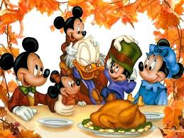 thanksgiving dinner scrooge mcduck and mickey mouse family