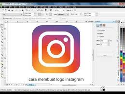 tutorial membuat logo coreldraw x5 tutorial cara membuat logo instagram di coreldraw tutorial logo
