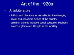 Literature Themes In The 1920s | a new popular culture is born main ideas 1 mass entertainment of