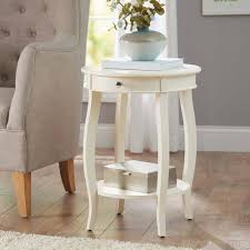 ivory accent table amazon com better homes and gardens round accent table with drawer