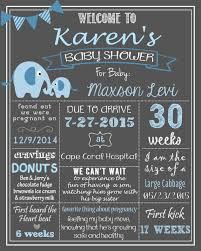 baby shower chalkboard elephants baby shower chalkboard poster digital file