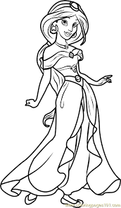 coloring pages elegant jasmine coloring pages disney princess