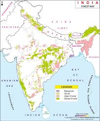 map of be forest vegetation map of india