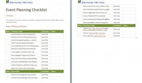 Event Planning Checklist Template Excel Conference Planning Checklist Demand Metric