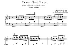 Flower Duet - digital sheet music for lever harp and pedal harp flower duet