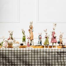 handmade resin rabbit ornaments small creative animal figurine