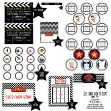 thanksgiving bingo free we heart parties free printables black chevron oscars free printables