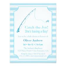 Fishing Themed Baby Shower - fish theme invitations u0026 announcements zazzle